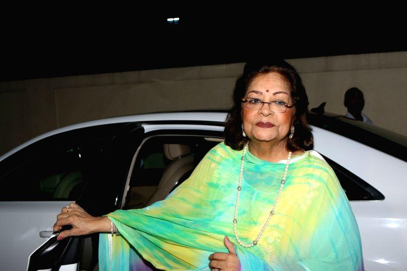 Manish Malhotra's mother during the special screening of film Badrinath Ki Dulhaniya in Mumbai on March 6, 2017. - Manish Malhotra