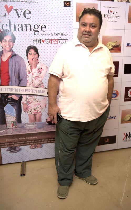 Manoj Phawa during the premiere of film Love Exchange in Mumbai on Oct 28, 2015.