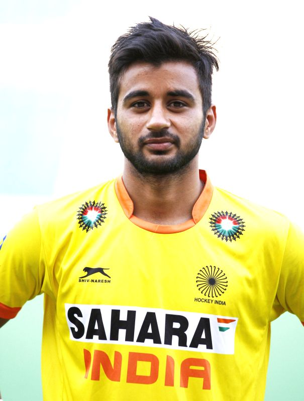 Manpreet Singh who was selected in the Indian Men Hockey Team for upcoming Hockey World Cup 2014 which is scheduled to begin on 31st May 2014 in The Hague, Netherlands. - Manpreet Singh