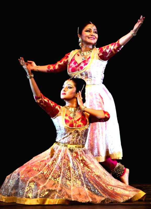 Marami Medhi and others perform during Kathak Dance Recital organised as a part of  India by the Nile 2014 at Cairo Opera House in Cairo of Egypt.