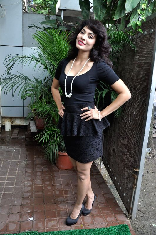 Marathi actor Manisha Kelkar during the title song recording of the album Afreen in Mumbai on July 19, 2014. - Manisha Kelkar