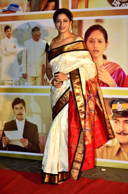 Marathi actor Neha Pendse during the premiere of Marathi film Dusari Goshta in Mumbai, on April 30, 2014. - Neha Pendse