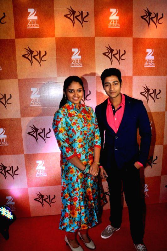 Success party of Marathi film Sairat - Rinku Rajguru and Akash Thosar