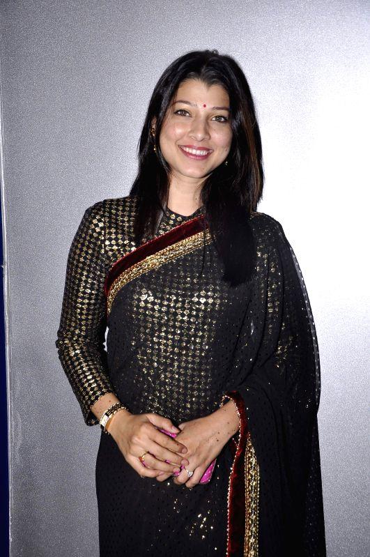 Marathi film actress Tejaswini Pandit during the premiere of Marathi film Candle March in Mumbai, on Dec 5, 2014. - Tejaswini Pandit