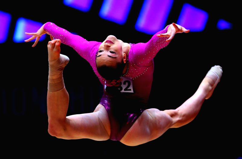 Margaret Nichols of the United States competes during the women's floor exercise final at the 46th World Artistic Gymnastics Championships in Glasgow, Britain, Nov. ...