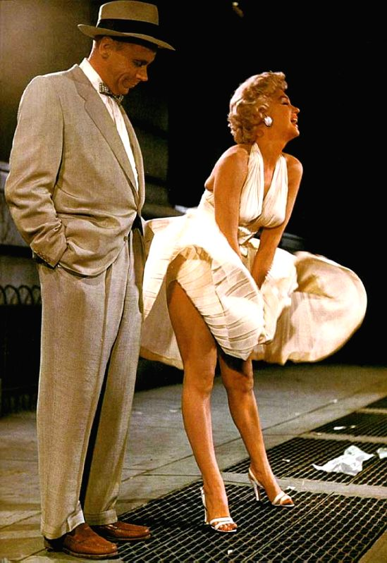 "Marilyn Monroe's iconic scene in ""The Seven Year Itch"" (1955)"