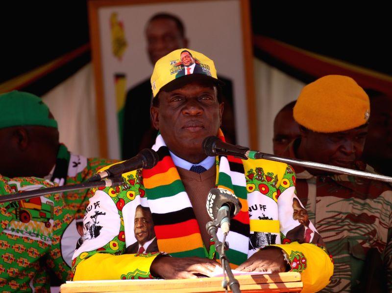 MARONDERA (ZIMBABWE), July 21, 2018 Zimbabwean President Emmerson Mnangagwa attends a rally in Marondera, Mashonaland East Province, Zimbabwe, on July 21, 2018. Emmerson Mnangagwa on ...