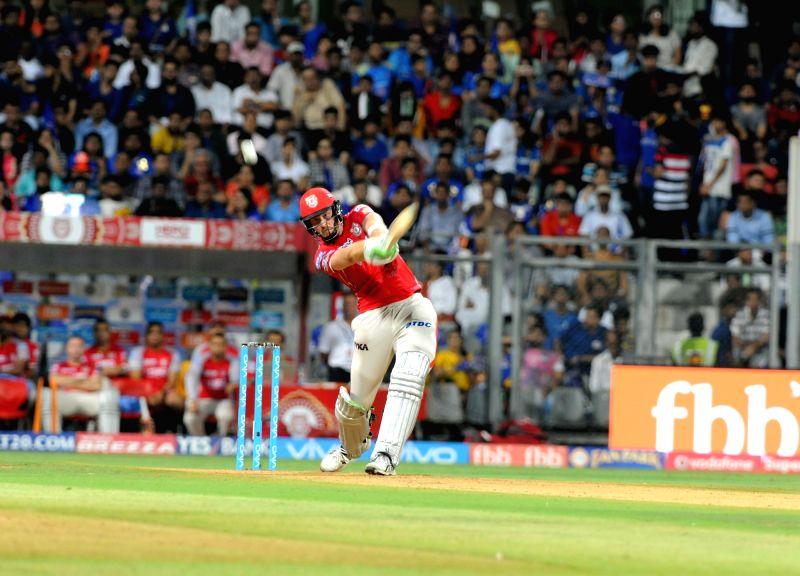 Martin Guptill of Kings XI Punjab in action during an IPL 2017 match between Mumbai Indians and Kings XI Punjab at Wankhede Stadium in Mumbai on May 11, 2017.