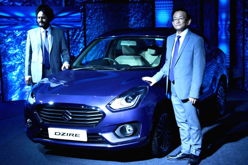 "Maruti Suzuki launches new sedan ""Dzire"" in New Delhi, on May 16, 2017."