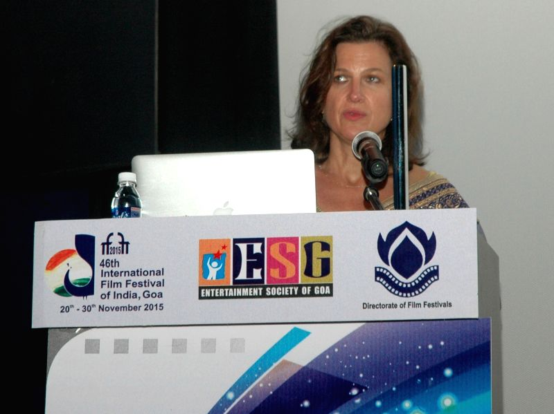 Master Class by the Casting Director Nancy Bishop, at the 46th International Film Festival of India (IFFI-2015), in Panaji, Goa on Nov 25, 2015.