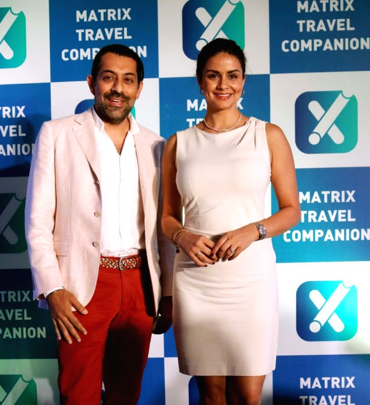 "Matrix Cellular founder and director Gagan Dugal and actress Gul Panag at the launch of Matrix "" Travel Companion App"" in New Delhi on April 19, 2017. - Gagan Dugal and Gul Panag"