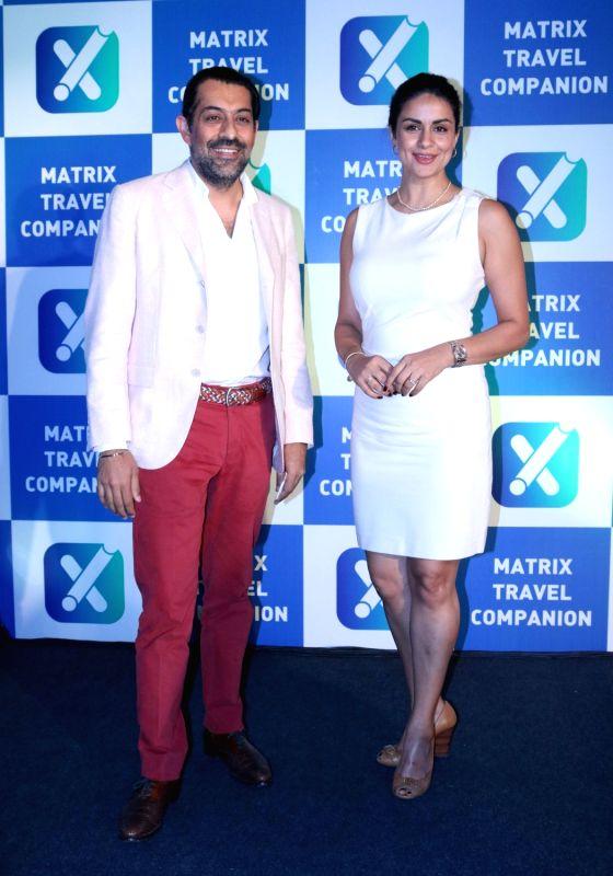 "Matrix Cellular founder and director Gagan Dugal and actress Gul Panag at the launch of Matrix "" Travel Companion App"" in New Delhi on April 19, 2017. - Gagan Dugal and Gul Panag"