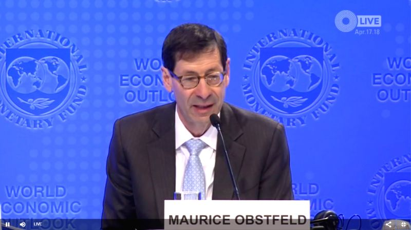 Maurice Obstfeld, the International Monetary Fund's Economic Counsellor and Director of the Research Department. (Photo Source: IMF/IANS)