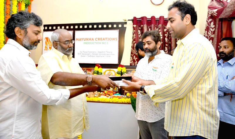 Mayukha Creations Productions NO. 1 Movie Pooja Stills.