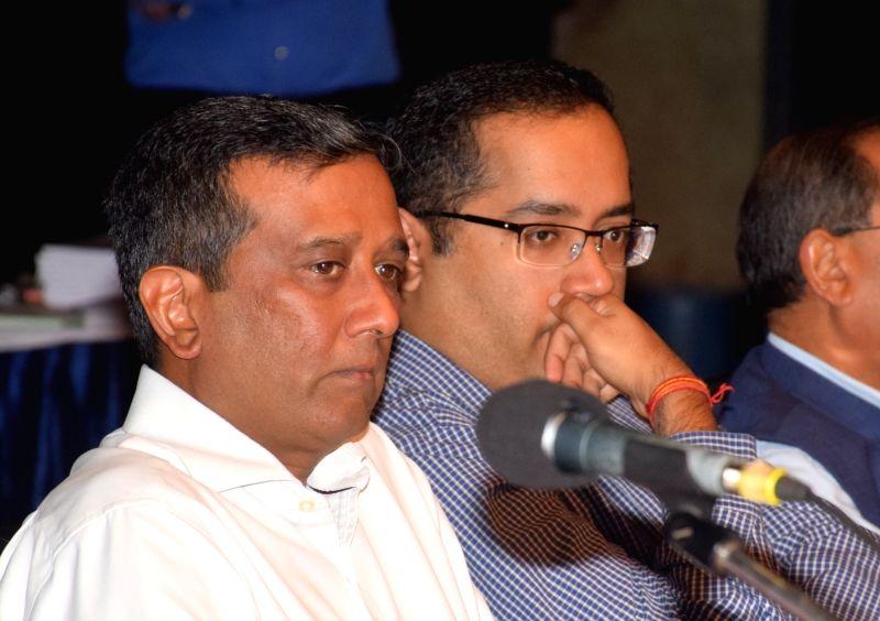 Mcleod Russel (India) Ltd.Vice-Chairman and Managing Director Aditya Khaitan and Director Amritanshu Khaitan at the company's 18th Annual General Meeting (AGM) meeting, in Kolkata on Aug 9, ...