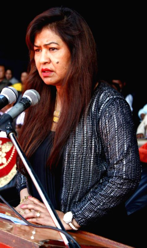Meghalaya Social Welfare Minister Deborah C Marak addresses during a programme organised to mark the inauguration of the two-day long `Simsang Festival 2014` held at Williamnagar (East ... - Deborah C Marak