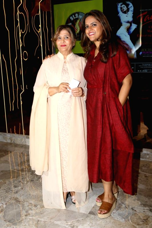 Meghna Ghai Puri, President, Whistling Woods International with her mother Mukta Ghai during the screening of classical film Taal in Mumbai on April 9, 2017.