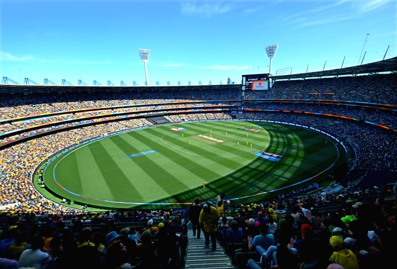 Melbourne (Australia): A view of packed Melbourne Cricket Ground during the final match of ICC World Cup 2015 between Australia and New Zealand in Australia on March 29, 2015.