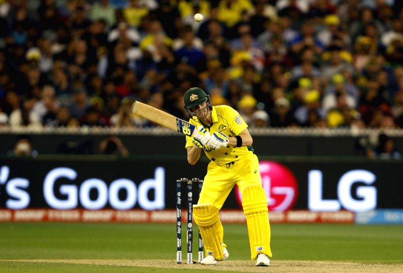 Melbourne (Australia): Australian batsman Steve Smith in action during the final match of ICC World Cup 2015 between Australia and New Zealand at Melbourne Cricket Ground in Australia on March 29, ... - Steve Smith