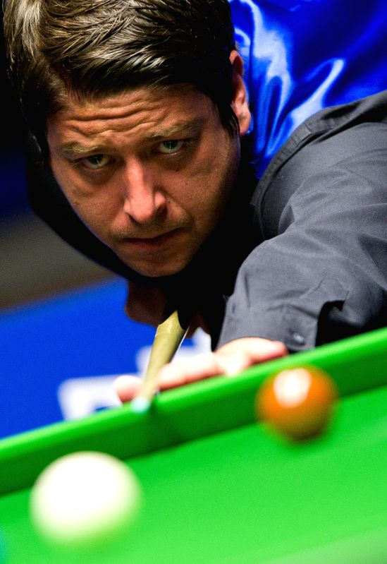 Matthew Stevens of Great Britain competes during his quarterfinals match against Xiao Guodong of China at the 2014 Australian Goldfields Snooker Open in Bendigo, ..