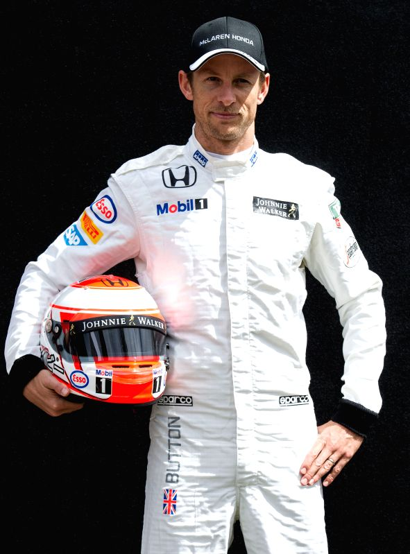 McLaren Formula One driver Jenson Button of Britain poses for the season-opening driver portrait session ahead of Australian Formula One Grand Prix at Albert ...