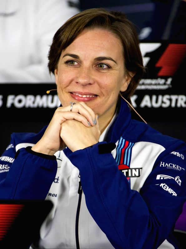 Williams Deputy Team Principal Claire Williams speaks during a press conference after the second practice session ahead of Australian Formula One Grand Prix at ...
