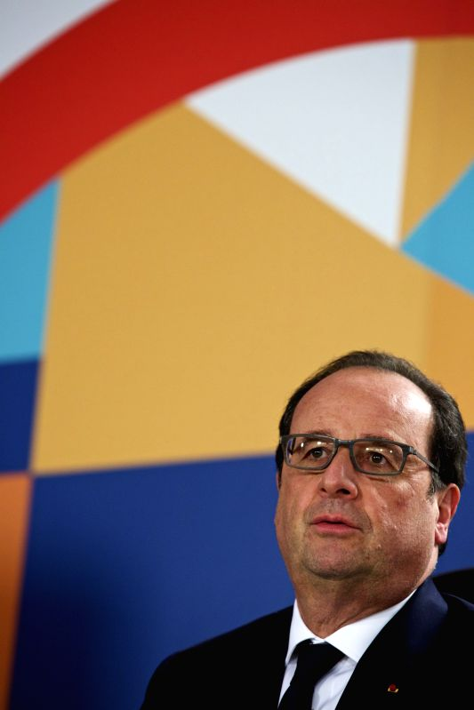 MELLIEHA (MALTA), Nov. 27, 2015 French President Francois Hollande attends a press conference after the Climate Action Special Executive Session at the Commonwealth Heads of Government ...