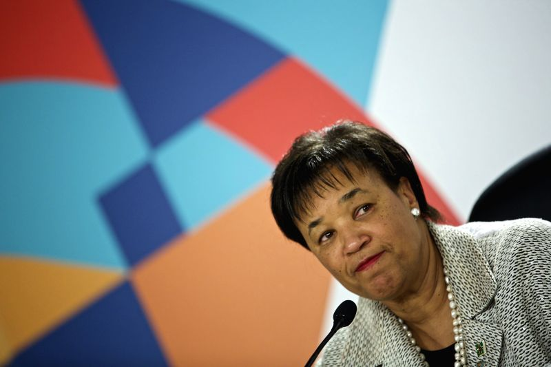 MELLIEHA (MALTA), Nov. 27, 2015 Patricia Scotland attends a press conference at the Raddison Golden Sands Hotel, Mellieha, Malta, on Nov. 27, 2015. Patricia Scotland was appointed as new ...