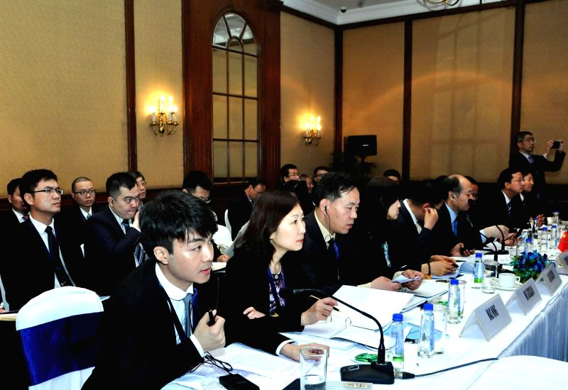 Members of Chinese delegation during the 3rd Bangladesh-China-India-Myanmar Economic Corridor Joint Study Group (BCIM-EC-JSG) meeting in Kolkata, on April 25, 2017.
