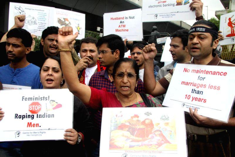 Members of Save Indian Family Karnataka protesting against ...