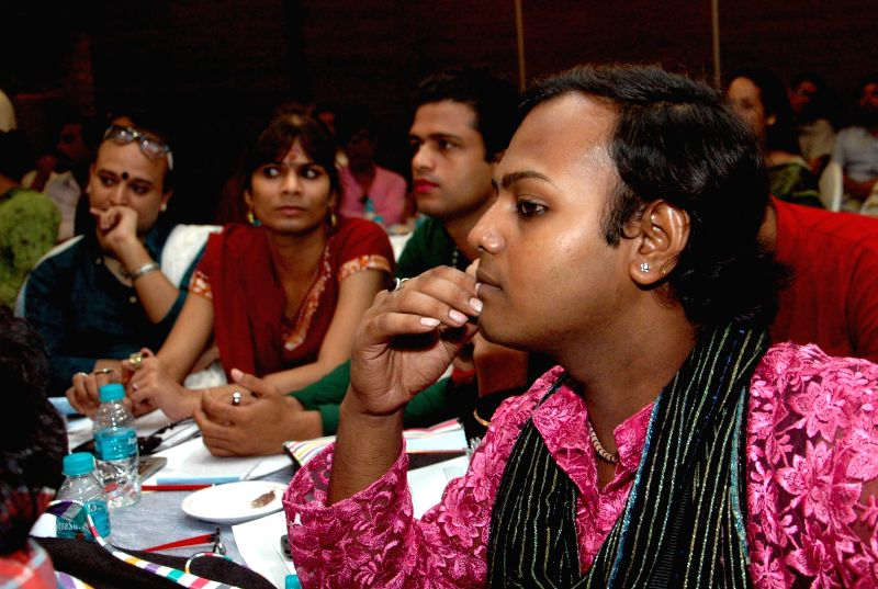 Members of transgender community during State level consultation meet on 'Rehabilitation and Welfare of Transgender Community' in Kolkata on July 15, 2014.