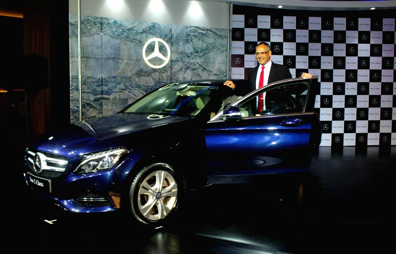 Mercedes-Benz India Managing Director and CEO Eberhard Kern launches Mercedes Benz C-class in New Delhi, on Nov 25, 2014.