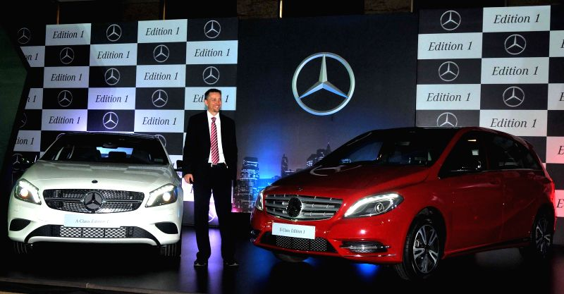 Mercedes-Benz India, Sales and Network Development Vice President Boris Fitz at the launch of Special A-Class and B-Class 'Edition 1' cars in Mumbai on June 24, 2014.