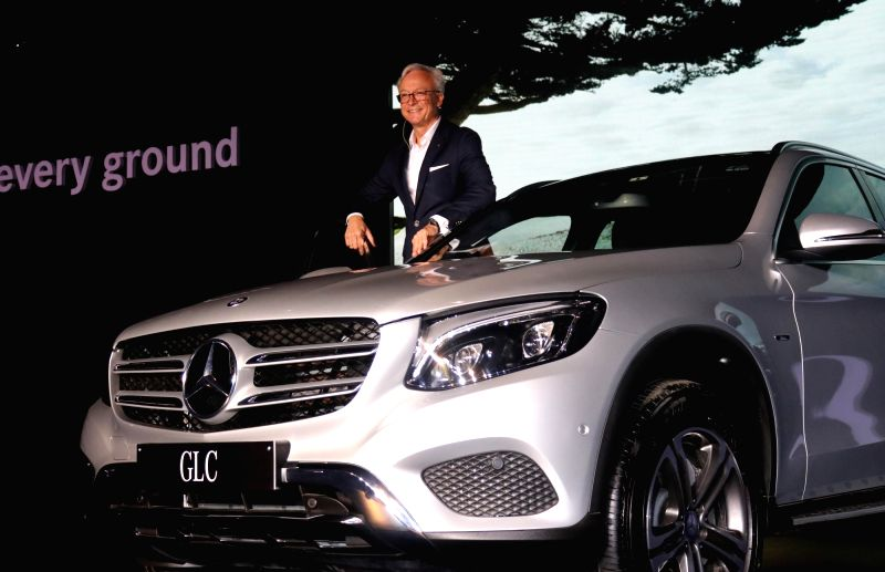 Mercedes-Benz MD and CEO Roland Folger at the launch of Mercedes-Benz GLC in New Delhi, on June 2, 2016.