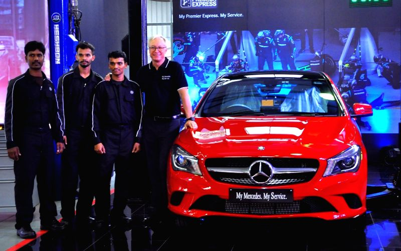 """Mercedes-Benz MD and CEO Roland Folger during """"My Mercedes My Service"""" in Bengaluru on July 19, 2016."""