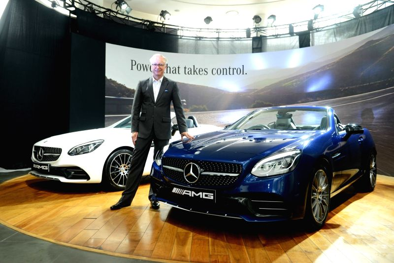 Mercedes-Benz MD and CEO Roland Folger during the launch of Mercedes 'AMG SLC 43' in New Delhi, on July 26, 2016.