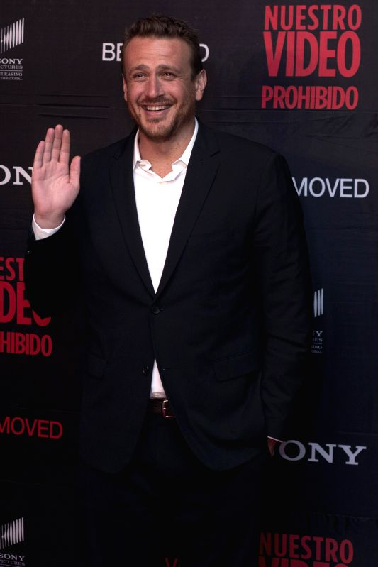 "U.S. actor Jason Segel, poses for photographs during the red carpet for the film ""Sex Tape"", in Mexico City, capital of Mexico, on July 30, 2014. ... - Jason Segel"