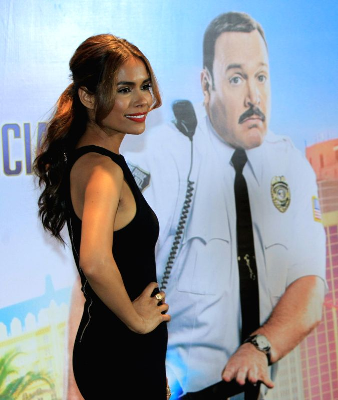 """Mexico City: The US actress, Daniella Alonso, pose for the photo during a press conference, promoting the new film """"Mall Cop 2"""" in Mexico City, Mexico, 8 April 2015. The US actor Kevin ..."""