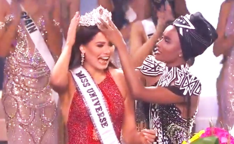 Mexico's Andrea Meza crowned Miss Universe, India's Adline Castelino 3rd runner up.(photo: Miss Universe@MissUniverse)