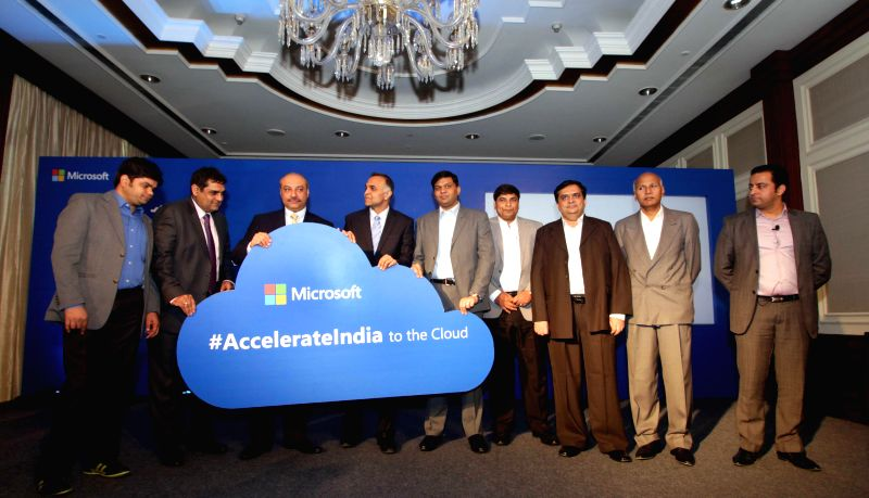 Microsoft launches a new cloud adoption programme for small and medium businesses (SMBs) in New Delhi on March 10, 2015.