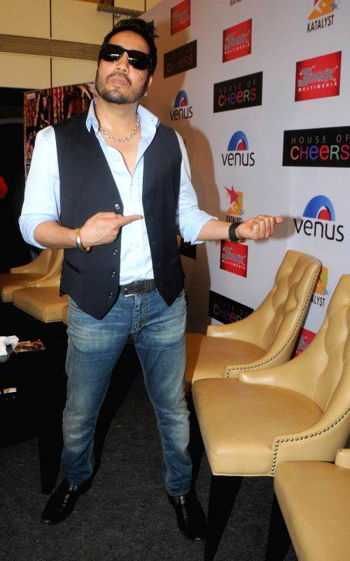 Mika Singh during the launch of Dilbagh Singh`s music album The Victorian Secrets in Mumbai on July 21, 2014. - Mika Singh and Dilbagh Singh