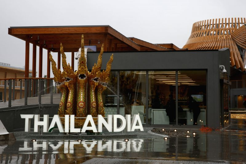 Photo taken on May 1, 2015 shows Thailand Pavilion at the Milan Expo 2015 in Milan, Italy. The Milan Expo will run until October 31 and is expected to attract over 20 ...