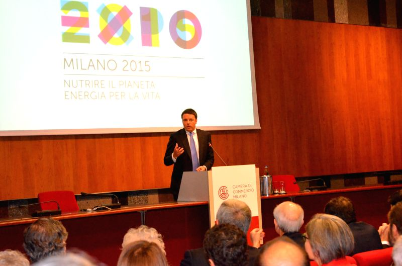 Italian Prime Minister Matteo Renzi speaks during a meeting with local business community in Milan, Italy, May 13, 2014. Renzi on Tuesday pledged his government's full - Matteo Renzi