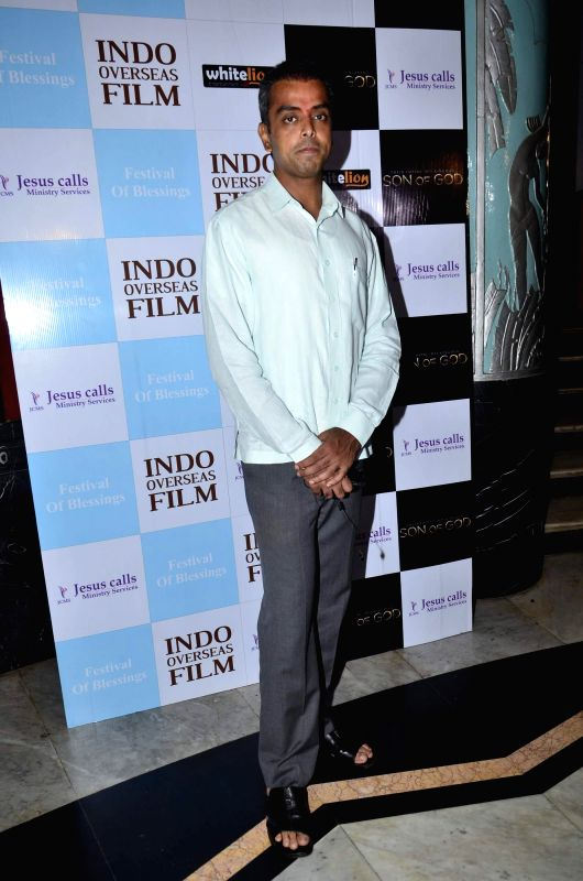 Milind Deora, Minister of State, Communications, IT and Shipping during the premiere of Hollywood film Son of God, in Mumbai on Monday, April 14, 2014.