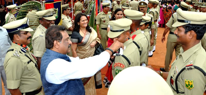 Minister of Home for the state of Karnataka K J George attended the BSF Passing Out Parade at Air Force Parade Ground in Bangalore on July 5, 2014.