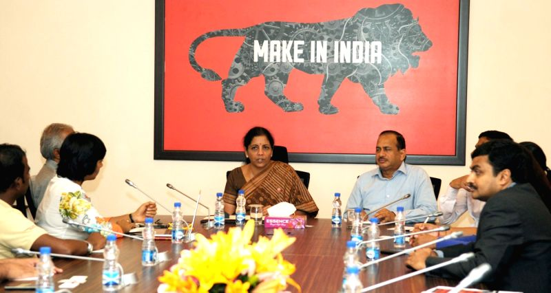 Minister of State for Commerce & Industry (Independent Charge) Nirmala Sitharaman meets the Start Up Founders, in New Delhi on July 28, 2016.