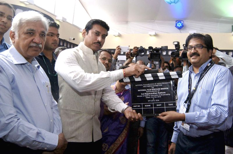 Minister of State for Information and Broadcasting, Col. Rajyavardhan Singh Rathore inaugurate the multimedia exhibition on `National Film Heritage Mission`, at the 46th International Film ... - Sunil Arora
