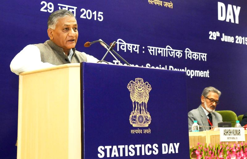 Minister of State for Statistics and Programme Implementation (I/C), External Affairs and Overseas Indian Affairs, General (Retd.) V.K. Singh addresses at the celebrations of the 9th ... - K. Singh