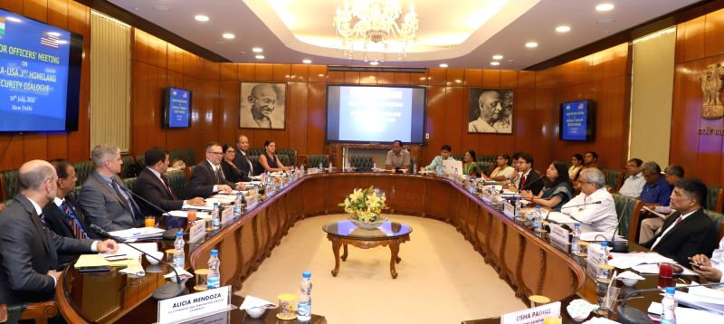 Ministry of Home Affairs Additional Secretary Rajni Sekhri Sibal and Department of Homeland Security, USA, Deputy Under Secretary James McCament, lead the respective delegations during ...