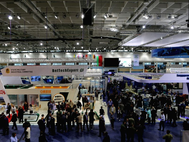 MINSK, May 21, 2017 - Photo taken on May 20, 2017 shows a scene of the 8th International military exhibition MILEX-2017 in Minsk, Belarus.